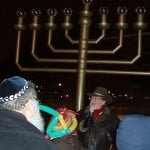 Bill at Menorah Lighting