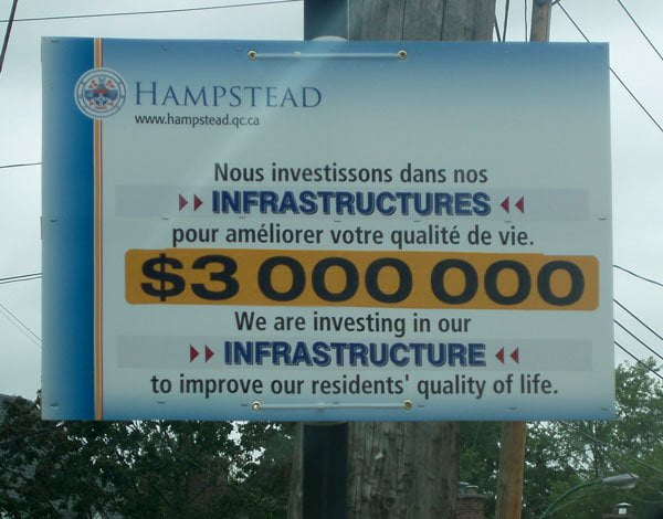Investing $3,000,000 in Hampstead Infrastructure