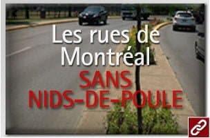 Les rues de Montréal sans nids-de-poule